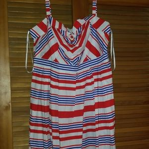 ELOQUII red white & blue summer dress. NWT
